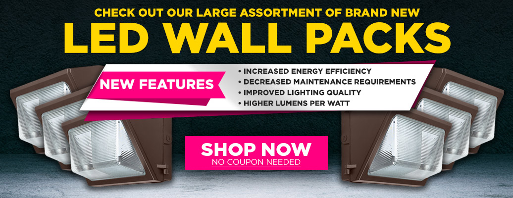 Large Assortment of Brand New Wall Packs