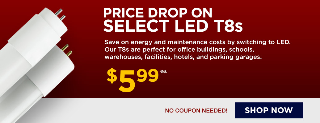 Select LED T8 Tubes on Sale