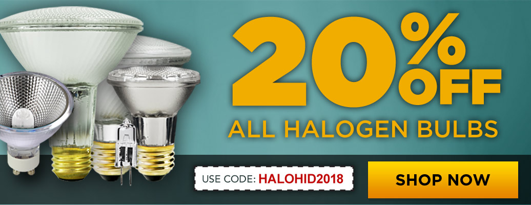 20% Off Halogen Lighting