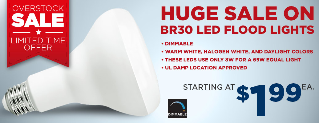 Select LED BR30 Bulbs on sale, starting at $1.99 ea!
