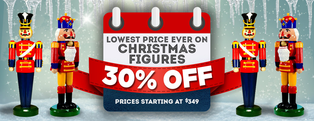 Life Size Christmas Figures on Sale