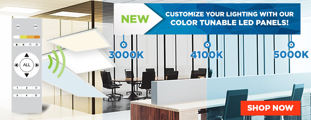 New Color Tunable Panels in Stock