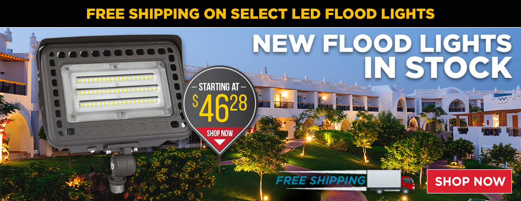 New Flood Lights in Stock, Starting at $46.28