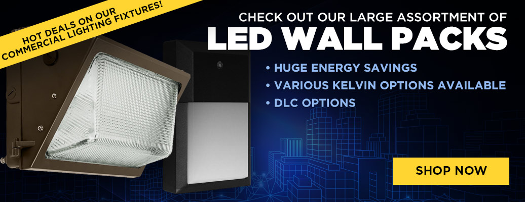 Large Assortment of LED Wall Packs