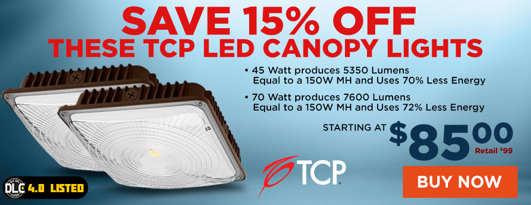 TCP LED Canopy Lights