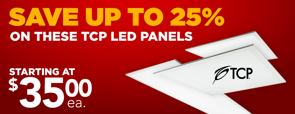 Save up to 25% on these TCP LED Panels