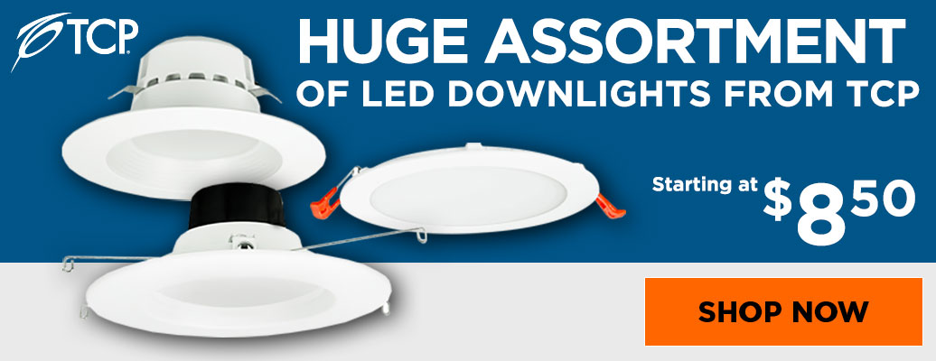 Huge Assortment of LED Downlights from TCP