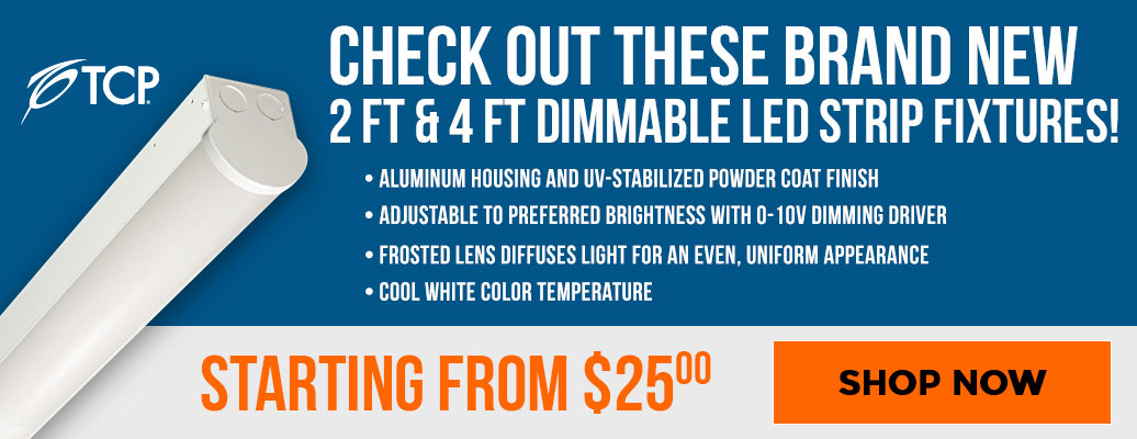 Check Out These Brand New 2 ft. & 4 ft. Dimmable LED Strip Fixtures