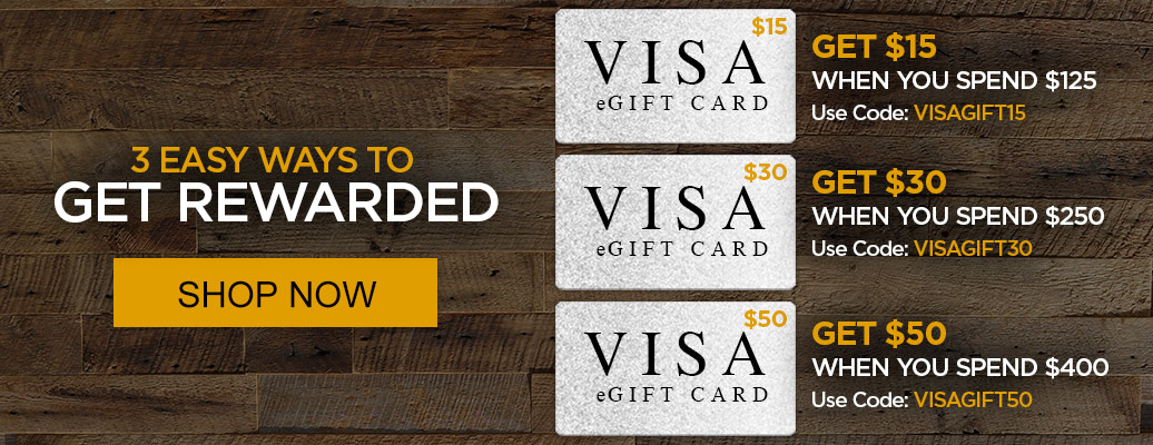 Up to $50 VISA Gift Card with purchase