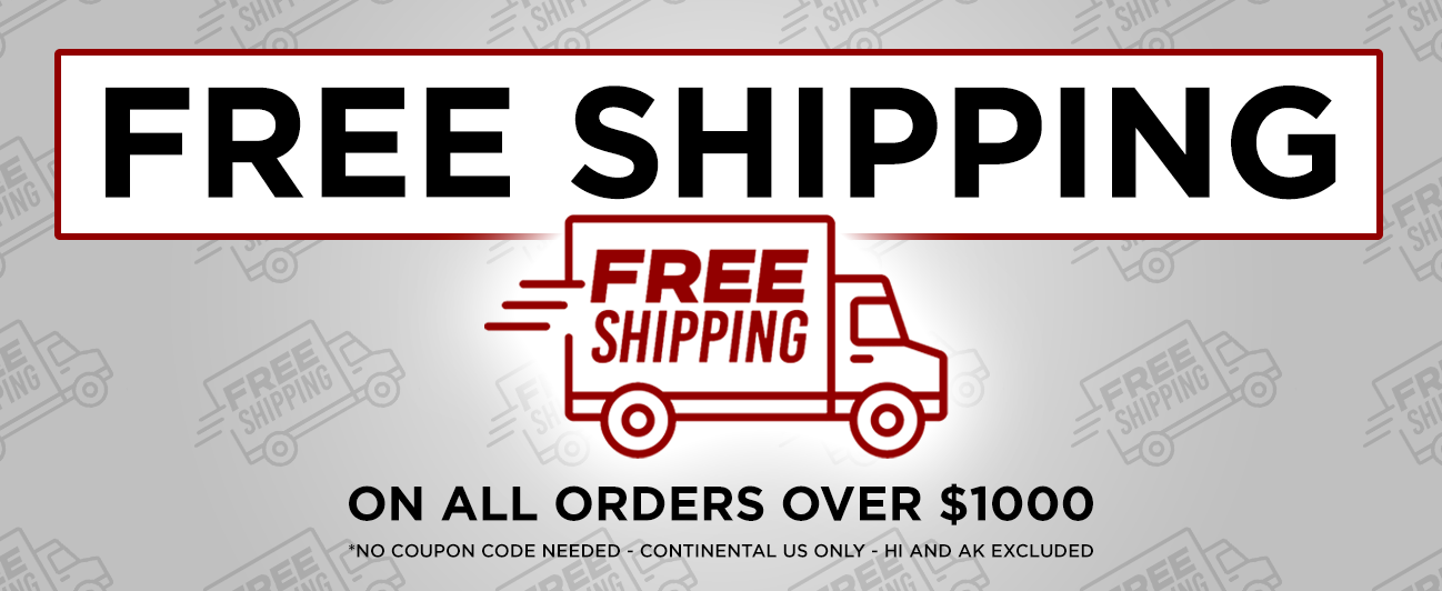 Free Shippinh With $1000 Purchase