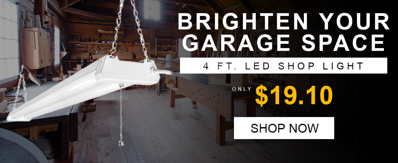 Brighten your Garage space with a LED Shop Light